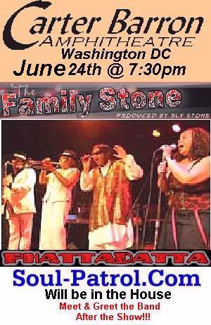 6/24 - Family Stone Band in DC (Soul-Patrol Meet &Greet after the Show)