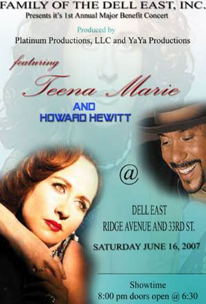 Philly: Teena Marie and Howard Hewitt @ the Dell East on Saturday, June 16