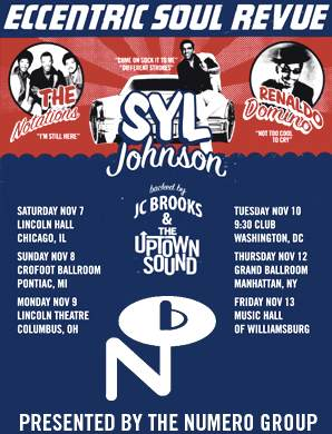 Concert Review- Eccentric Soul Review Starring Syl Johnson- Music Hall of Williamsburg Brooklyn, New York Friday Nov. 13