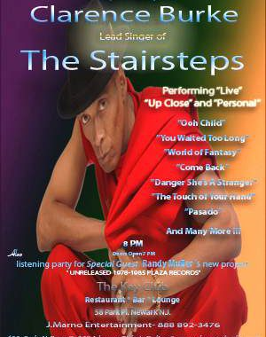 Press Release: Clarence Burke Jr (five Stairsteps Lead) Returns @ Key Club In Newark, Nj (march 12, 2010 At 8 Pm)