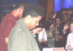 >Christian Scott in the Nokia Lobby