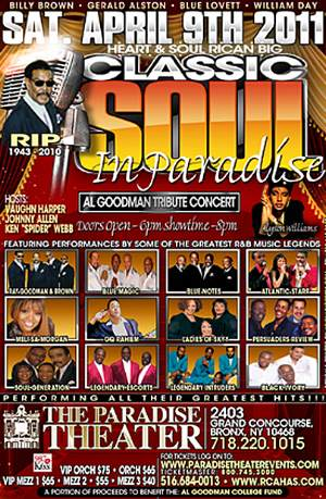 NYC/NEWARK: AL GOODMAN TRIBUTE CONCERT (BUY A TICKET EVEN IF YOU CANT GO)