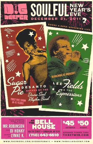 Brooklyn: Lee Fields + Sugar Pie DeSanto @ The Bell House New Years Eve (12/31)